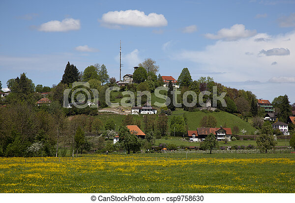 houses nearby the bodensee germany - csp9758630