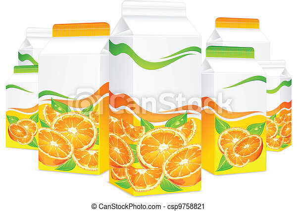 Packages for orange juice - csp9758821