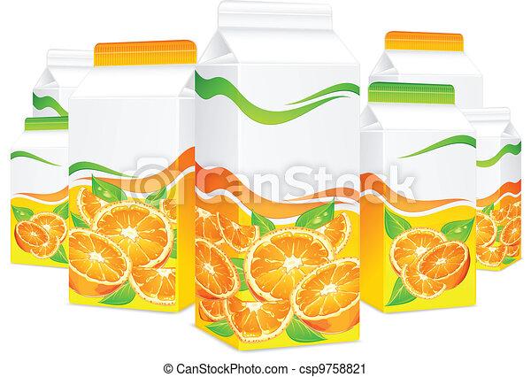 Packages for orange juice - csp9758821