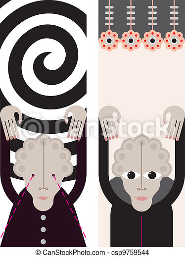Hypnosis - vector illustration - csp9759544