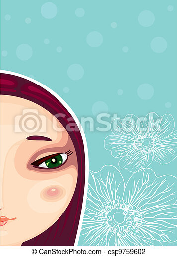 Girl Face Part Close-up - csp9759602