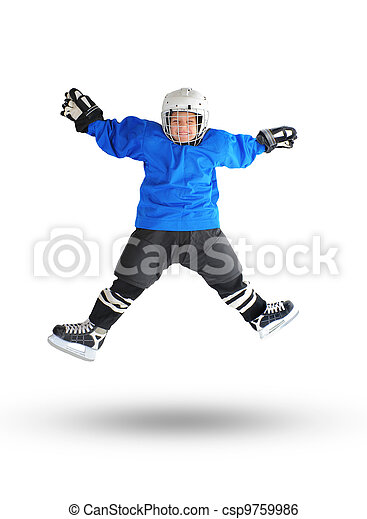 Little Boy Hockey Player - csp9759986