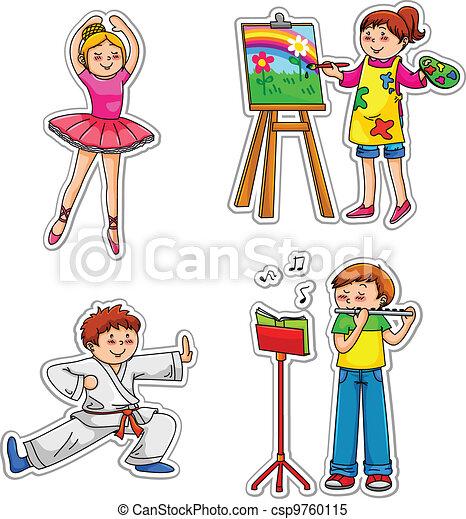 kids with hobbies - csp9760115
