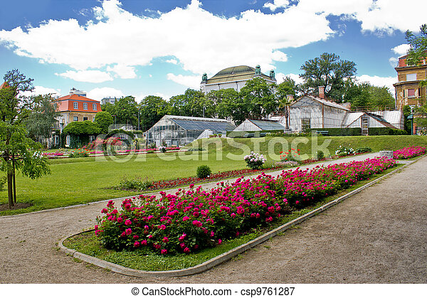 Botanical garden in Town of Zagreb - csp9761287