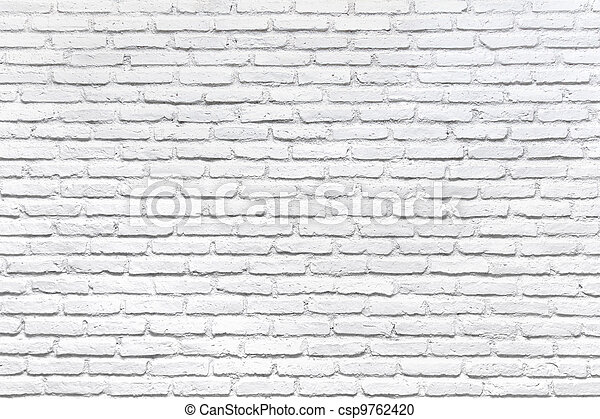 White brick wall for a background - csp9762420