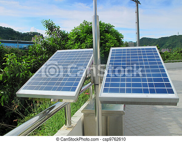 solar panels on the roof - csp9762610