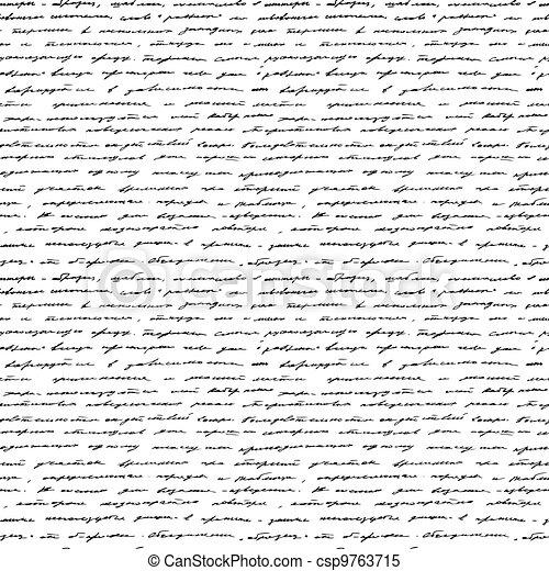 Handwriting. Seamless vector background. - csp9763715
