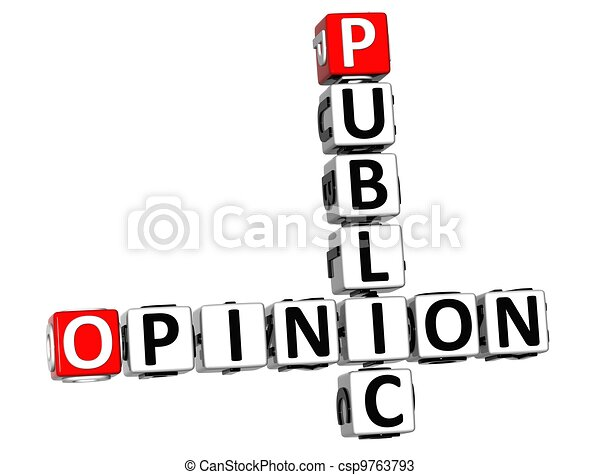 3D Public Opinion Crossword - csp9763793