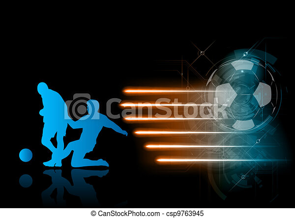soccer players - csp9763945