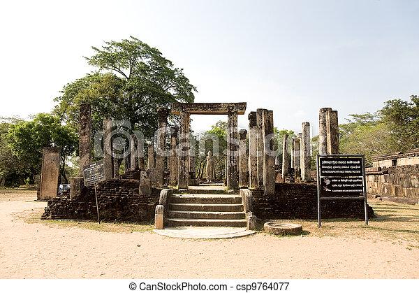 Buddha statue  in Polonnaruwa - vatadage temple, UNESCO World Heritage Site in Sri Lanka - csp9764077