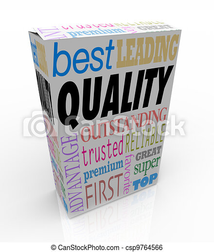 Quality Word on Product Box Top Best Choice - csp9764566