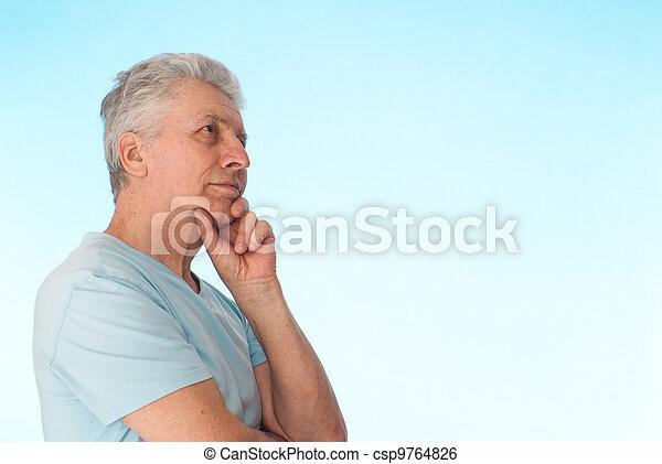 Beautiful Caucasian elderly male  - csp9764826