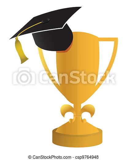 education concept of the graduation - csp9764948