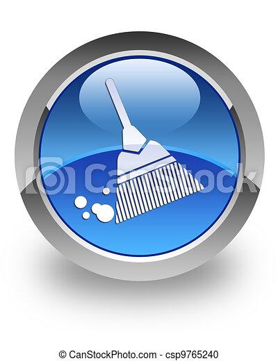Stock de ilustration de escoba brillante icono escoba for Icono boton