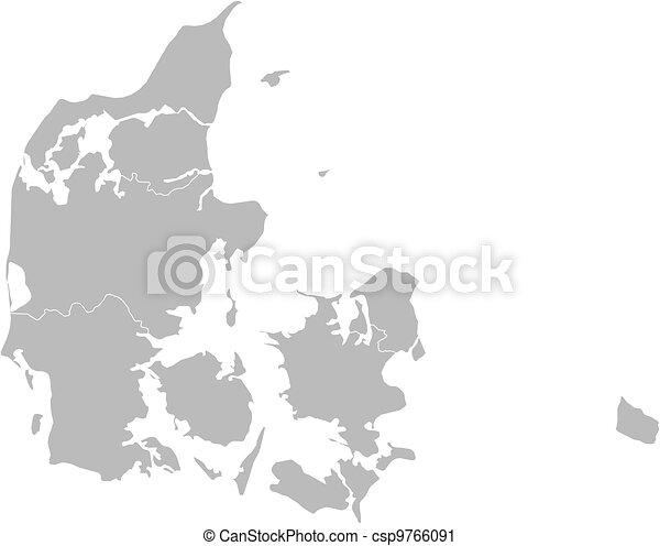 Map of Danmark - csp9766091