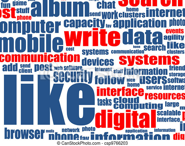Social media concept with internet related words - csp9766203