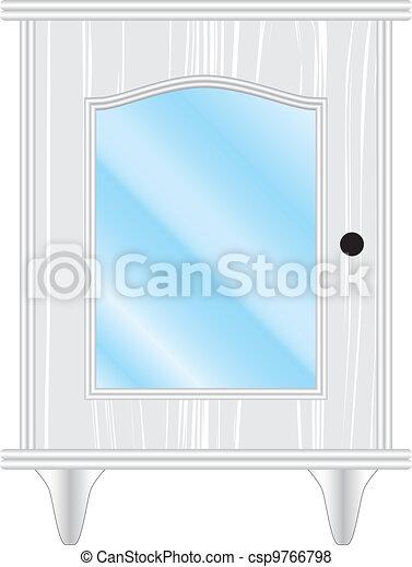 Vektor av glas, vit, Köksskåp - Köksskåp, vit, glas csp9766798 ...