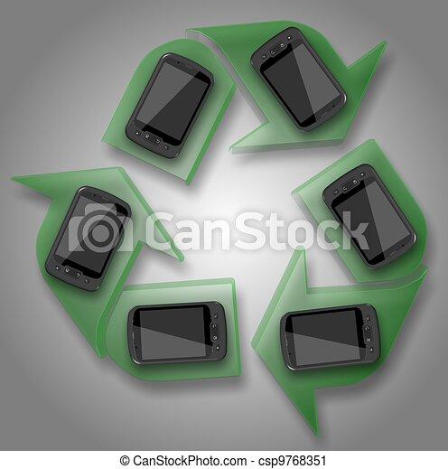 recycle mobile phones - csp9768351
