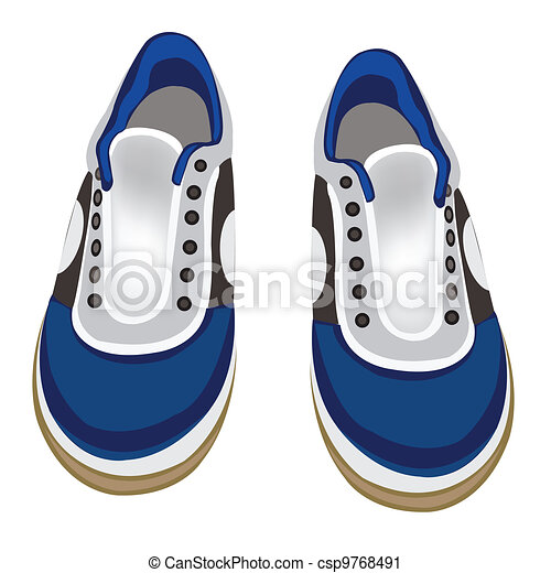 Atheletic footwear on white background - csp9768491