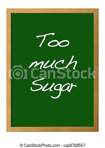 Too much sugar. - csp9768557
