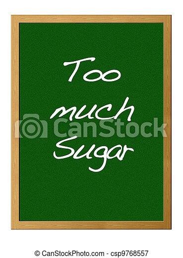 Too much sugar. - csp9768557