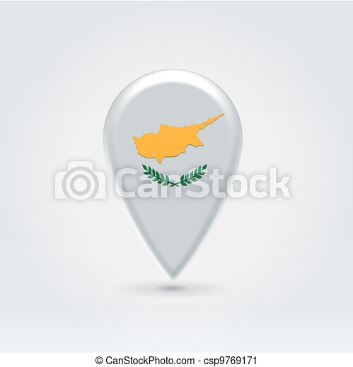 Geo location national point label - csp9769171