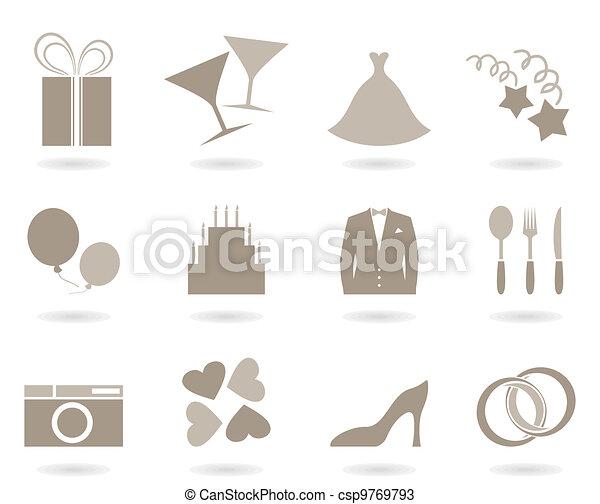 Wedding icon - csp9769793