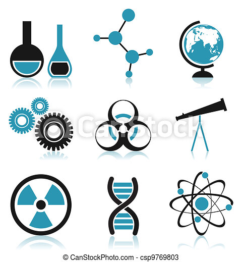 Vectors Of Science Icon Icons On A Science Theme A