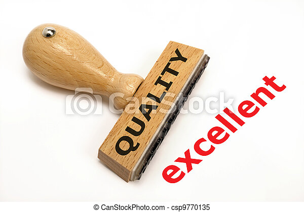 rubber stamp marked with quality excellent - csp9770135