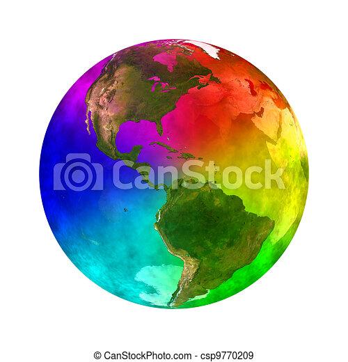 Rainbow planet Earth - America - csp9770209
