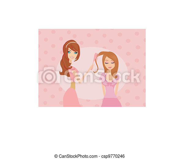woman in hairdressing salon - csp9770246