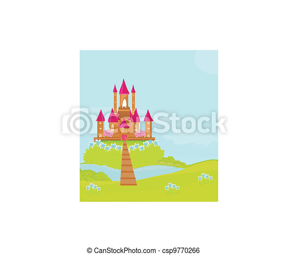 Magic Fairy Tale Princess Castle  - csp9770266