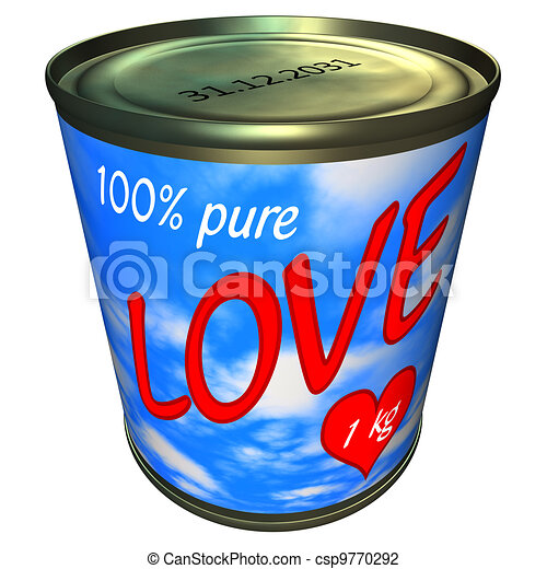 Can of 100 percent pure love 1 kg - csp9770292