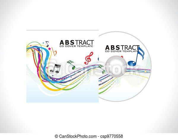 Vector of abstract cd cover template vector illustration for Cd case artwork template