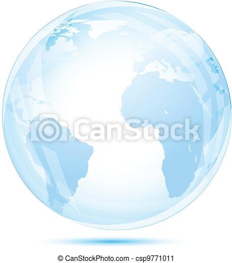 Globe glass in blue - csp9771011