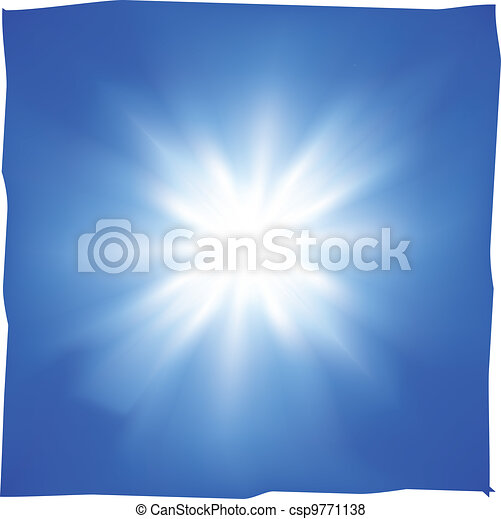Sunshine in the blue sky - csp9771138
