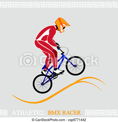 Athlete BMX racer - csp9771442