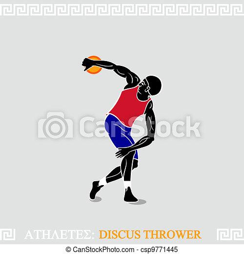 Athlete Discus thrower - csp9771445