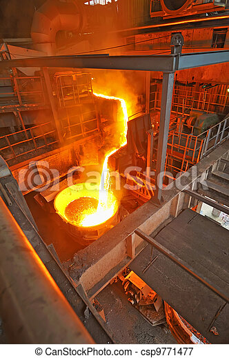 pouring molten steel - csp9771477