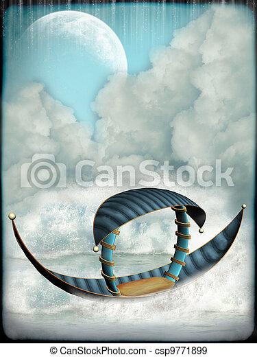 fantasia, barca - csp9771899