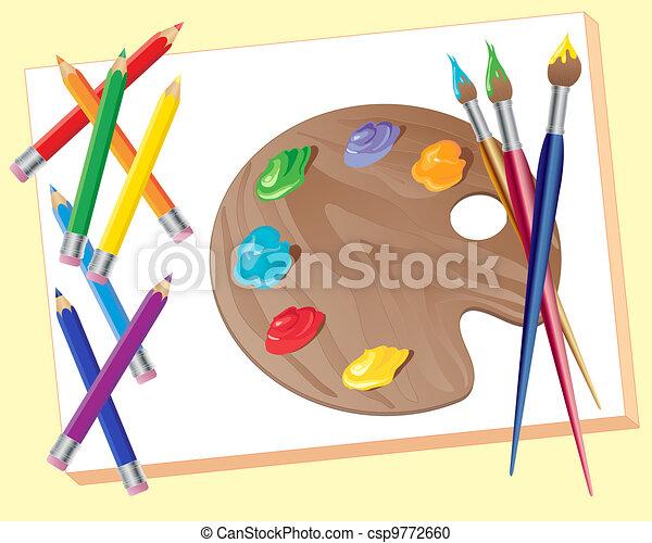 artists materials - csp9772660