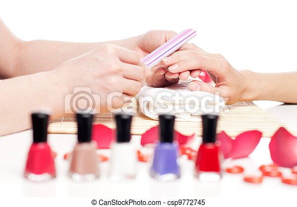Hands Spa. Manicure concept - csp9772745