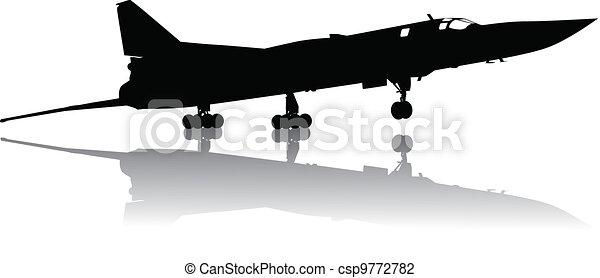 Military plane take off - csp9772782