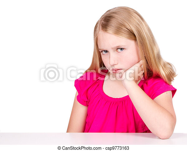 Angry or upset child or pre-teen - csp9773163