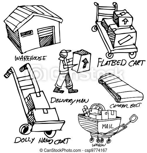 Manufacturing Icon Drawing Set - csp9774167