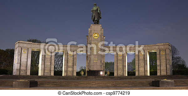 Soviet War Memorial in Berlin - csp9774219