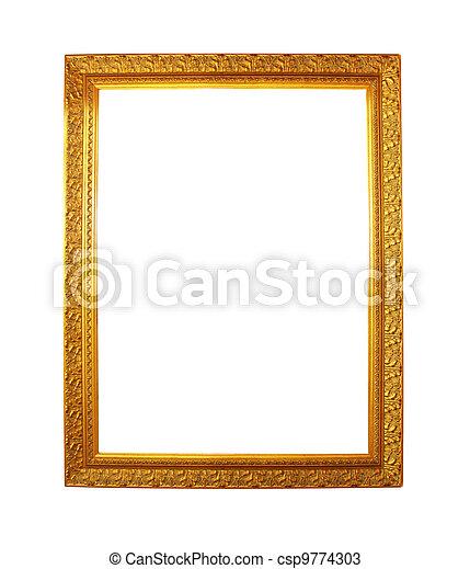 old antique gold frame - csp9774303