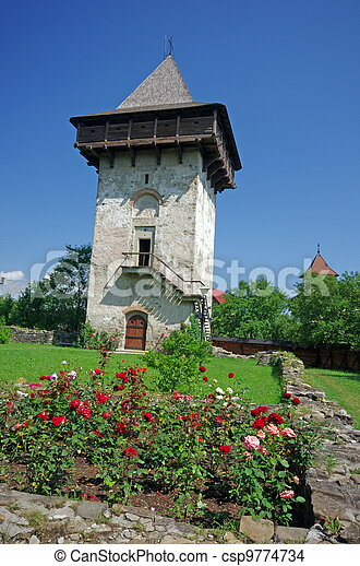 Ancient monastery tower - csp9774734