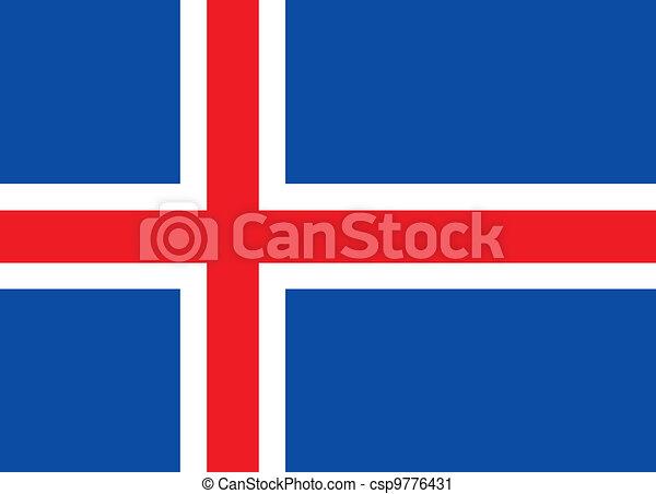 Iceland flag - csp9776431