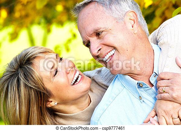Happy senior couple. - csp9777461